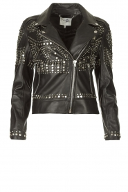 Dante 6    Leather jacket with studs Melrose   black    Picture 1