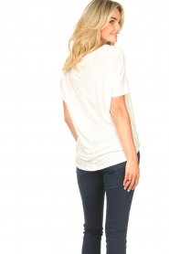 Blaumax |  Linen T-shirt with boat neck Over | natural  | Picture 5