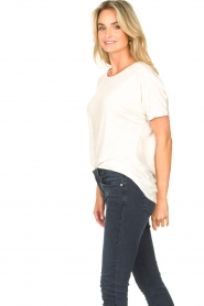 Blaumax |  Linen T-shirt with boat neck Over | natural  | Picture 4