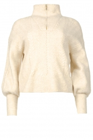 Dante 6 |  Knitted zip-up sweater Yina | natural  | Picture 1