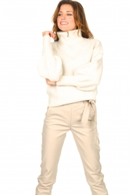 Dante 6 |  Knitted zip-up sweater Yina | natural  | Picture 5