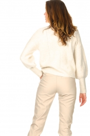 Dante 6 |  Knitted zip-up sweater Yina | natural  | Picture 8