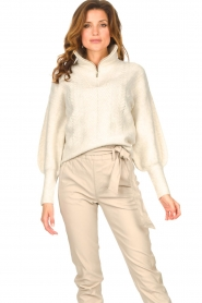 Dante 6 |  Knitted zip-up sweater Yina | natural  | Picture 2