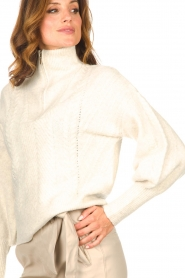 Dante 6 |  Knitted zip-up sweater Yina | natural  | Picture 9