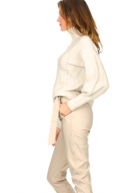 Dante 6 |  Knitted zip-up sweater Yina | natural  | Picture 7