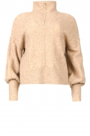 Dante 6 |  Knitted turtle neck Yina | beige  | Picture 1