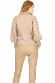 Dante 6 |  Knitted zip-up sweater Yina | beige  | Picture 7