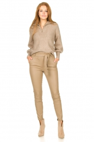 Dante 6 |  Knitted zip-up sweater Yina | beige  | Picture 3