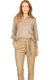 Dante 6 |  Knitted zip-up sweater Yina | beige  | Picture 2