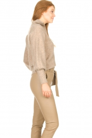 Dante 6 |  Knitted zip-up sweater Yina | beige  | Picture 6