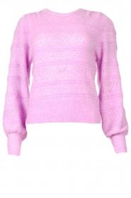 Dante 6 | Ajour sweater Valana | paars  | Afbeelding 1