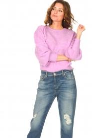 Dante 6 | Ajour sweater Valana | paars  | Afbeelding 2