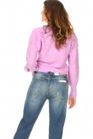 Dante 6 | Ajour sweater Valana | paars  | Afbeelding 7