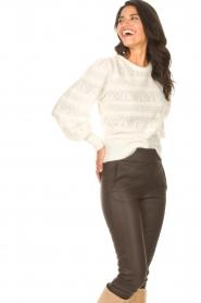 Dante 6 | Ajour sweater Valana | naturel  | Afbeelding 5