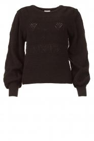 Dante 6 |  Ajour sweater Valana | black  | Picture 1