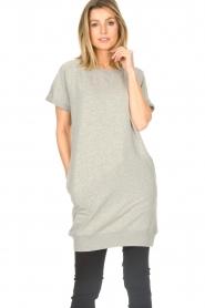 Blaumax |  Cotton sweater dress Queens | grey  | Picture 4