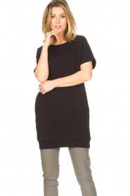 Blaumax |  Cotton sweater dress Queens | black  | Picture 4