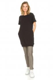 Blaumax |  Cotton sweater dress Queens | black  | Picture 3