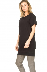 Blaumax |  Cotton sweater dress Queens | black  | Picture 6