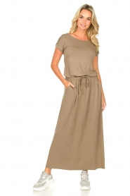 Blaumax |  Maxi dress with pockets Townsville | brown  | Picture 4