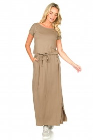 Blaumax |  Maxi dress with pockets Townsville | brown  | Picture 3