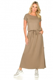 Blaumax |  Maxi dress with pockets Townsville | brown  | Picture 2