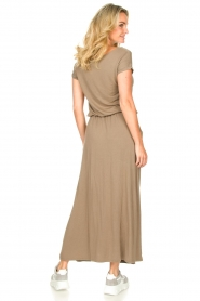 Blaumax |  Maxi dress with pockets Townsville | brown  | Picture 6