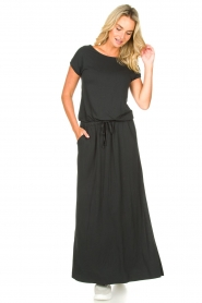 Blaumax |  Maxi dress with pockets Townsville | black  | Picture 3