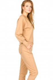 Dante 6 |  Cotton sweater with logo Bold | camel  | Picture 6