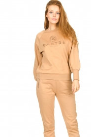Dante 6 |  Cotton sweater with logo Bold | camel  | Picture 4