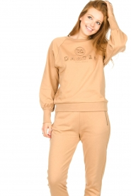 Dante 6 |  Cotton sweater with logo Bold | camel  | Picture 5