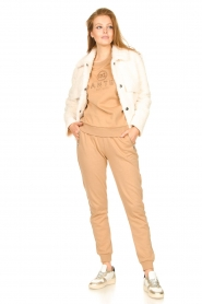 Dante 6 |  Cotton sweater with logo Bold | camel  | Picture 3