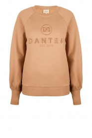 Dante 6 |  Cotton sweater with logo Bold | camel  | Picture 1