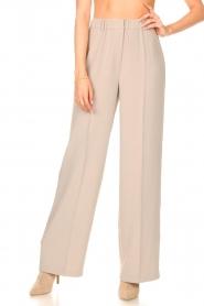 Dante 6 |  Wide leg trousers Luca | beige  | Picture 4