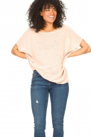 Blaumax |  Linen sweater Ivy | pink  | Picture 4