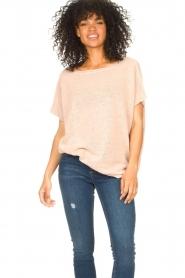 Blaumax |  Linen sweater Ivy | pink  | Picture 2