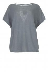 Blaumax |  Linen sweater Ivy | blue  | Picture 1