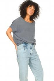 Blaumax |  Linen sweater Ivy | blue  | Picture 2