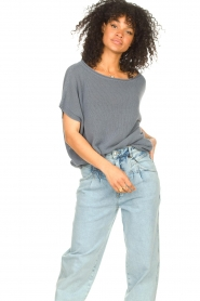Blaumax |  Linen sweater Ivy | blue  | Picture 5