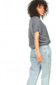 Blaumax |  Linen sweater Ivy | blue  | Picture 7