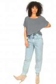 Blaumax |  Linen sweater Ivy | blue  | Picture 3