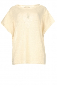 Blaumax |  Linen sweater Ivy | white  | Picture 1