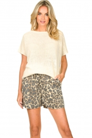 Blaumax |  Linen sweater Ivy | white  | Picture 2