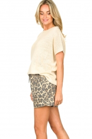 Blaumax |  Linen sweater Ivy | white  | Picture 5