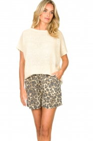 Blaumax |  Linen sweater Ivy | white  | Picture 4