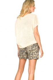 Blaumax |  Linen sweater Ivy | white  | Picture 7