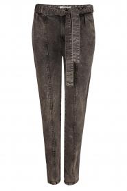 Dante 6    Paperbag jeans Bayard   black    Picture 1