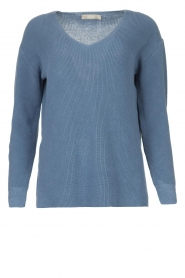Blaumax |  Cotton sweater Ann | blue  | Picture 1