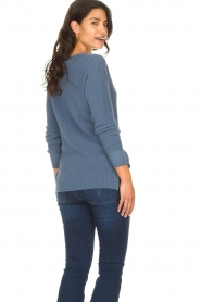 Blaumax |  Cotton sweater Ann | blue  | Picture 6