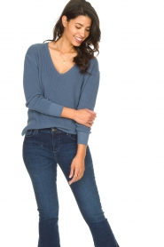 Blaumax |  Cotton sweater Ann | blue  | Picture 2